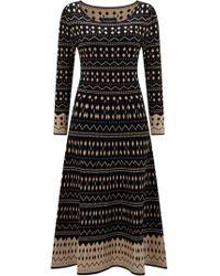 James Lakeland - Jacquard Knitted Midi Dress - Lyst
