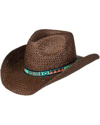 Roxy - Cowgirl Straw Cowboy Hat - Lyst