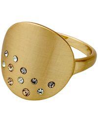 Pilgrim - Multi Gold Plated Ring - Lyst