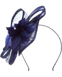 Suzanne Bettley - Teardrop Fascinator With Feather And Bow - Lyst