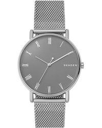 Skagen - Signatur Steel Mesh Bracelet Watch - Lyst