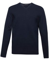 French Connection - Men's Milano Front Cotton V Neck Jumper - Lyst