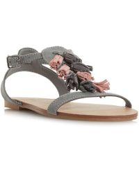 Dune - Lawla Tassel Flat Sandals - Lyst