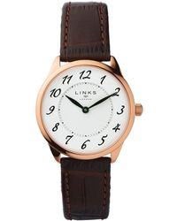 Links of London - Narrative Womens Brown Leather Watch - Lyst