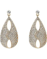 Mikey - Jacket Front Cubic Embed Earring - Lyst