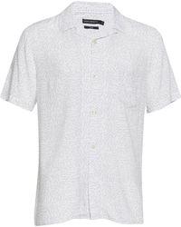 French Connection - Matchstick Memphis Cuban Collar Shirt - Lyst