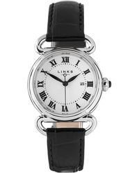 Links of London - Driver Round Black Watch - Lyst