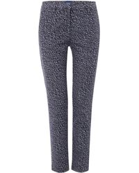 GANT - Tailored Cropped Chino Trousers In Print - Lyst