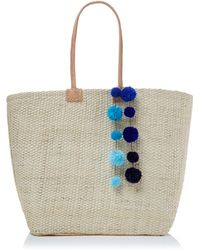 Helen Moore - Large Pom Pom Beach Basket Bag - Lyst