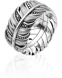 Thomas Sabo - Rebel At Heart Feather Ring - Lyst