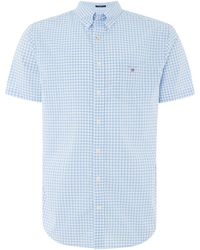 GANT - Men's Broadcloth Banker Gingham Shirt - Lyst