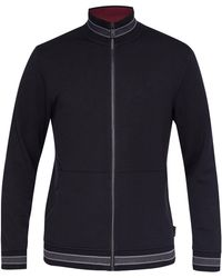 Ted Baker - Men's Collie Zip-through Funnel Neck Jumper - Lyst