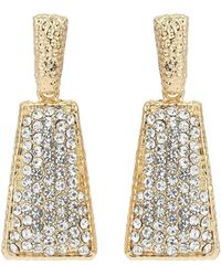 Mikey - Crystal Diamond Embed Earring - Lyst