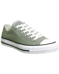2775cc580828 Converse All Star Low Leather Trainers in Natural for Men - Lyst
