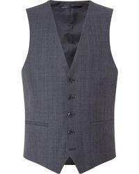 Kenneth Cole - Men's Metropolitan Slim Fit Windowpane Waistcoat - Lyst