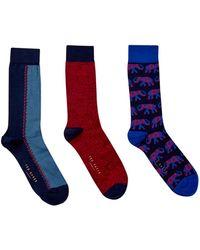 Ted Baker - Men's 3 Pack Sock Set - Lyst