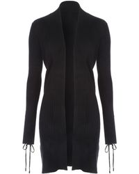 Jane Norman - Black Long Line Cardigan - Lyst