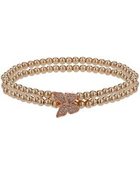 Mikey - Single Butterfly Twin Line Bracelet - Lyst