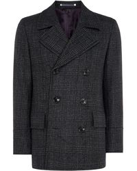 PS by Paul Smith - Men's Checked Peacoat - Lyst