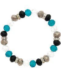 Monet - Crystal Bead Zircon Bracelet - Lyst