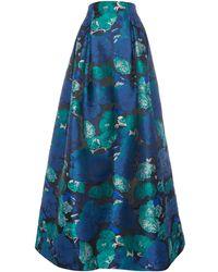 Eliza J - Floral Jacquard Ballgown Skirt - Lyst