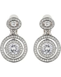 Mikey - Twin Circle Cubic Centre Drop Earring - Lyst