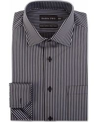 Double Two - Two Colour Striped Formal Sthirt - Lyst