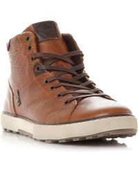 Dune - Sherwood Emboss Panel High Top Trainers - Lyst