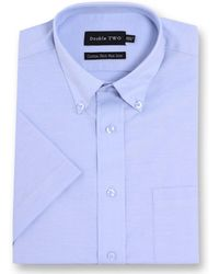 Double Two - Half Sleeve Oxford Formal Shirt - Lyst