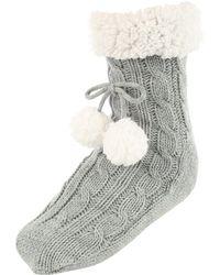 Jane Norman - Grey Super Soft Slipper Socks - Lyst