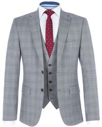 Paul Costelloe - Men's Mason Slim-fit Grey Checked Three Piece Suit - Lyst