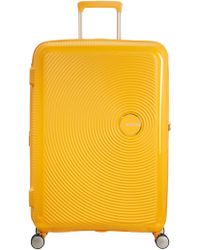 American Tourister   Soundbox Bass Yellow Hard Large Spinner Case   Lyst