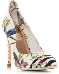 d9f11481f9 Ted Baker Zephari Embellished Heel Court Shoes in Black - Lyst