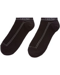 Calvin Klein | Waistband Logo 2 Pair Pack Trainer Socks | Lyst