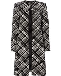 Ellen Tracy - Double Crepe Coat - Lyst