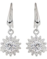 Mikey - Silver 925 Sun Design Cubic Earring - Lyst