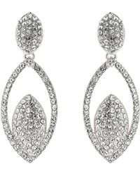 Mikey - Twin Eclipse Cubic Embed Drop Earring - Lyst