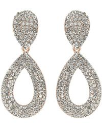 Mikey - Double Loop Ablong Crystal Earring - Lyst