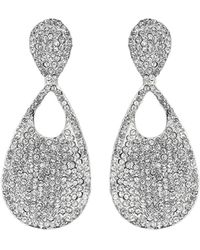 Mikey - Oval Scoop Crystal Embed Earring - Lyst