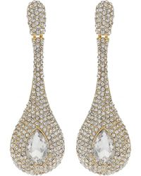 Mikey - Triple Eclipse Crystal Studded Earring - Lyst