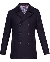 Ted Baker - Men's Zachary Wool Peacoat - Lyst