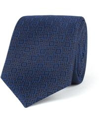 Racing Green - Navy Deco Tie - Lyst