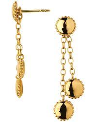 Links of London - Amulet 18kt Gold Vermeil Drop Earrings - Lyst