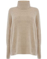 Warehouse | Ribbed Boxy Cowl Neck Jumper | Lyst
