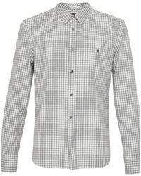 French Connection - Hornblendite Grindle Checked Shirt - Lyst
