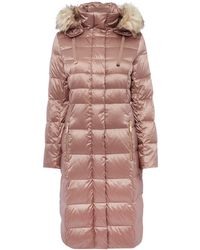 Eliza J - Padded Down Coat With Faux Fur Hood - Lyst