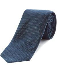 HUGO - Textured Dot Silk Tie - Lyst