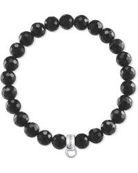 Thomas Sabo - Charm Club Shiny Black Charm Bracelet - Lyst