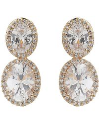 Mikey - Twin Oval Cubic Filigree Edge Earring - Lyst