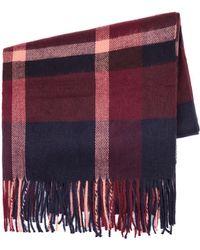 TOPMAN - Burgundy Check Blanket Scarf - Lyst